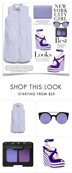 """""""best looks!"""" by shoaleh-nia ❤ liked on Polyvore featuring H&M, Quay, NARS Cosmetics, Brian Atwood, Lodis and Tiffany & Co."""