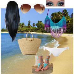 Pocahontas at the beach