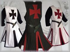 LARP tabards/surcoats - Medieval Templar Knight Crusader Surcoat & Cloak Reenactment SCA Larp