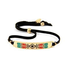 Aztec Cross Pattern Bracelet