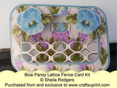 Lattice Fence Card - Blue Pansy