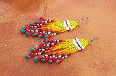 Native American Beaded Earrings - SUNDANCE. From CheyenneNoon