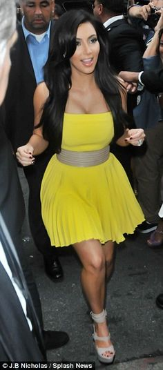 Kim Kardashian-- she always has great style. Love this dress!