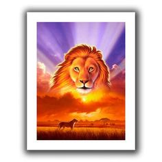 ArtWall 'The Lion King' by Jerry Lofaro Graphic Art on Canvas Size: