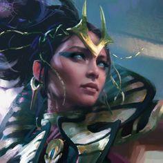 Shadowstorm Vizier / Magic the Gathering, Choi Yongjae on ArtStation at https://www.artstation.com/artwork/NzOJP
