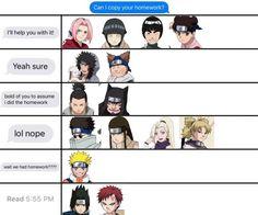 Naruto Gaara and Sasuke is super accurate lol Naruto Uzumaki, Anime Naruto, Boruto, Naruto Comic, Naruto Sasuke Sakura, Shikamaru, Otaku Anime, Naruto Quotes, Funny Naruto Memes