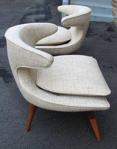 Pair of Karpen Horn Chairs