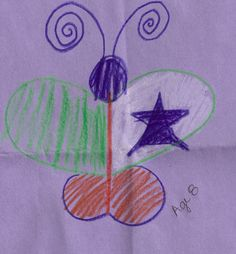 This butterfly is uniquely designed by an 8 year old.