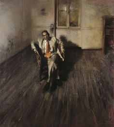 "Γιώργος Ρόρρης - Giorgos Rorris |   ""Portrait of Takis Pitselas in an orange tie"" - 2005"