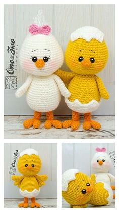 Crochet Animal Amigurumi, Crochet Baby Toys, Easter Crochet, Cute Crochet, Crochet Amigurumi Free Patterns, Crochet Animal Patterns, Stuffed Animal Patterns, Crochet Doll Tutorial, Crochet Keychain Pattern