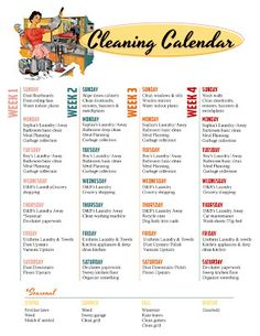 free printable cleaning and meal calendars via tipjunkiecom meal calendar cleaning
