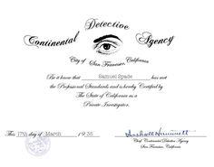 Certificat de datation Harley