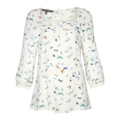 Dragonfly Butterfly Print Blouse at Laura Ashley