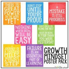 Image result for growth mindset posters for middle school math