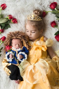 Beauty and the Beast newborn photo shoot. Photo by Amy Anderson Photography in Bradenton, FL