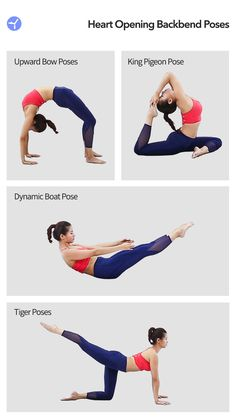 HeartOpening Backbend is a yoga program in Daily Yoga. It includes many advanced yoga poses, for example: Upward Bow pose, King Pigeon pose, Dynamic Boat pose, Tiger Pose. Yoga Balance Poses, Yoga Poses, King Pigeon Pose, Free Yoga Classes, Bow Pose, Advanced Yoga, Daily Yoga, Yoga Tips, Body Weight