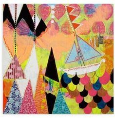 GreenBox Art Greenbox Art Jessica Swift 18-Inch x 18-Inch  Wild Ocean  Wheatpaste Poster