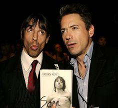 Anthony Kiedis and Robert Downey Jr. ~ I'm sure we all know EXACTLY why they know each other... Imagine the late 80s parties in LA; yeah.... don't care! Their such inspirations now!