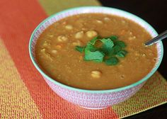 Slow Cooker Red Lentil, Chickpea, & Coconut Soup replace with vegan butter and voila, vegan Coconut Lentil Soup, Chickpea Soup, Red Lentil Soup, Lentil Curry, Best Crockpot Recipes, Slow Cooker Recipes, Cooking Recipes, Vegetarian Soup, Vegetarian Recipes Easy