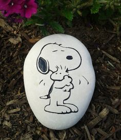 Engraved Stone Snoopy, Snoopy fans, Personalized engraved stone Name by StoneEffectsMD, $20.00