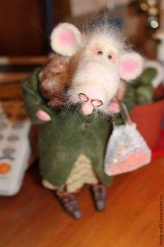К подруге!Отмечать!) - белый,войлочная крыса,новый год,праздник,шерсть