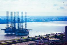 Onshore, Offshore. The ocean view from the 23rd storey of Independence Building, Lagos. Nigeria