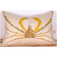 Yellow Spider Crab I Pillow