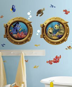 Finding Nemo Porthole Peel & Stick Giant Wall Decals