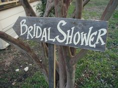 Hey, I found this really awesome Etsy listing at http://www.etsy.com/listing/78090227/rustic-wood-wedding-sign-on-stake-bridal