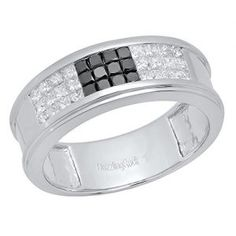 G-H,I2-I3 Size 3 To 15 in 1//4 Size Intervals Sterling Silver Unique Mens Ring Diamonds 0.31Ct