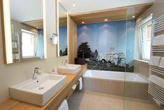 Bad der Belvita-Suite im Hotel Feldhof Naturns