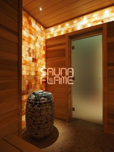 Himalayan salt in sauna