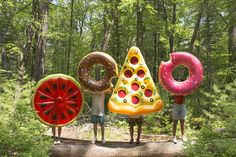 Food Inflatable Pool Floats | Pizza, Donut, Watermelon | Urban Outfitters SUMMER