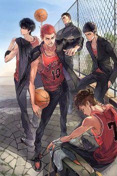 New basket ball anime slam dunk ideas Slam Dunk Manga, Manga Anime, Fanart Manga, Anime Guys, Basketball Drawings, Basketball Anime, Basketball Tattoos, Basketball Posters, Basketball Pictures