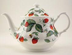 Darling Teapot:  Roy Kirkham's Alpine Strawberry design