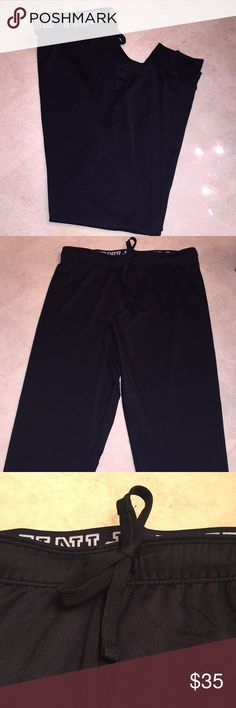 PINK ULTIMATE JOGGER PANTS Victoria's Secret PINK Ultimate jogger pants in black..used..worn twice..size is Small..PINK logo on interior around waistband..90% polyester..refer to pics.. PINK Victoria's Secret Pants Track Pants & Joggers