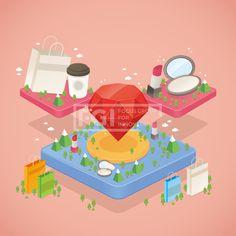SILL209, 프리진, 일러스트, 지도, 벡터, 에프지아이, 오브젝트, 아이소메트릭, 나무, 산, 생활, 라이프, 쇼핑, 쇼핑백, 주얼리, 보석, 커피, 테이크아웃, 립스틱, 파우더, 화장품, 코스메틱, 뷰티, 구름, 일러스트, illust, illustration #유토이미지 #프리진 #utoimage #freegine 19926588