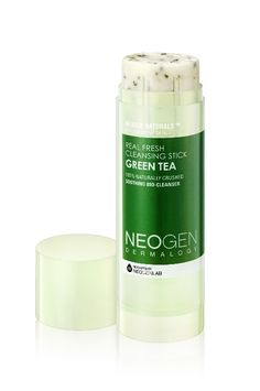 Remove your makeup and cleanse your face all in one step with this handy green tea Neogen cleansing stick, perfect for traveling.