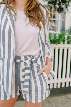 Spring Stripe Suit Set * Lou What Wear *