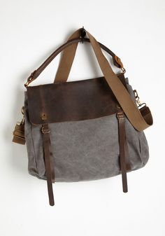 Truly Gritty and Gorgeous Bag. Embody the weathered elegance of the American West every time you swing this rustic bag over your shoulder. #brown #modcloth