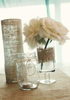 DIY Beach Wedding Centerpiece Ideas, Rustic Ceremony and Reception 2014