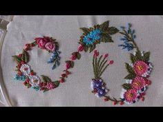 Hand embroidery designs. Monogram alphabet S. - YouTube