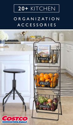 The kitchen is the heart of the home. Make sure this important space is functional and stylish with this collection of 20+ kitchen organization accessories from Costco.com. From islands to pantry storage, you can find everything you're looking for.