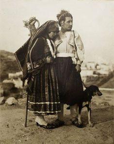 Wedding Portrait from Skyros island,Greece 1928 Old Photos, Vintage Photos, Greek Traditional Dress, Zorba The Greek, Greece Photography, Greek Culture, Greek Wedding, Athens Greece, Greek Islands