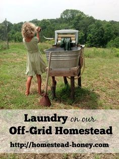 Ever wondered how off-grid homesteads like ours handle laundry? In this post, I share it all!  | Homestead Honey