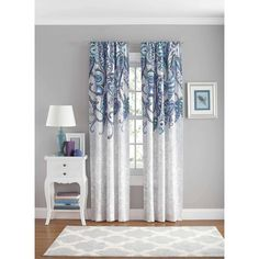 your zone paisley polyester curtain panel - Walmart.com