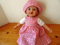 Puppenkleidung - Kleid für Puppe Größe 30-33 cm - ein Designerstück von maderegger bei DaWanda