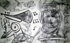"""http://paintings-deko.over-blog.com/  \""""Musícantes llenos de Amor\"""" de PAPI @ VirtualGallery.com"""