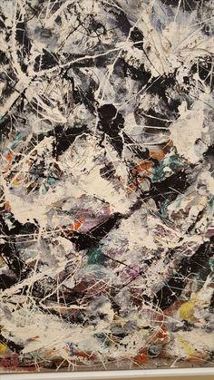 Close-up Jackson Pollock- The Art Institute, Chicago