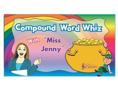 """Phonics Song: """"Compound Word Whiz"""" With Miss Jenny--The ENTIRE Edutunes Song for FREE! Teach your children about compound words with this fun, educational """"Edu-Tune."""" Purchase the entire commercial-free """"Phonics Time"""" DVD at: https://www.teacherspayteachers.com/Product/Phonics-Time-DVD-With-Miss-Jenny-Edutunes-451530"""